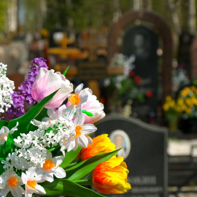 Flowers And Cemetery